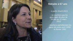 PSV et retraite à 67 ans: les explications d'Annie Boivin