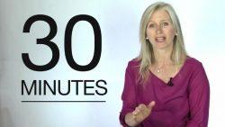 Sara Gilbert et la règle des trente minutes