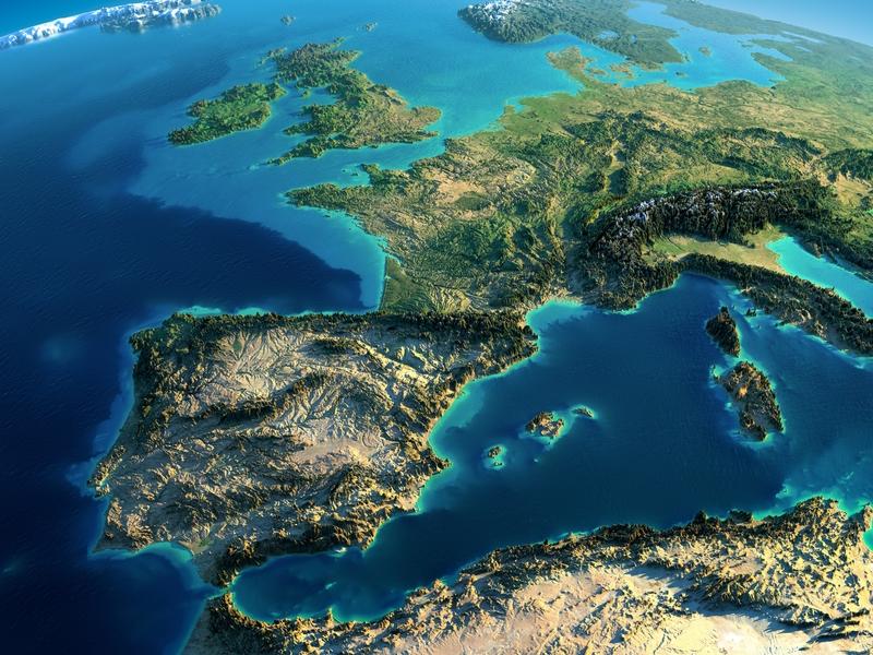 L'Europe vue de très haut.