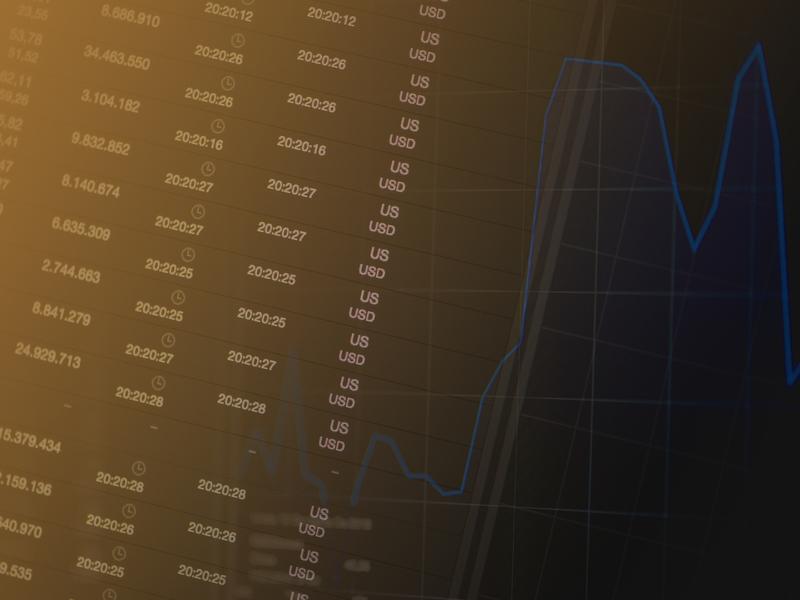 écran avec chiffres de la bourse