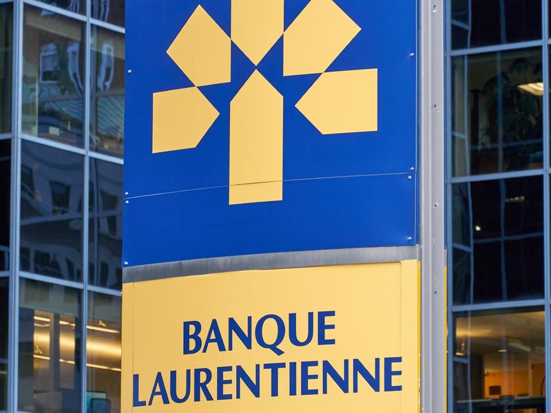Panneau de la banque laurentienne