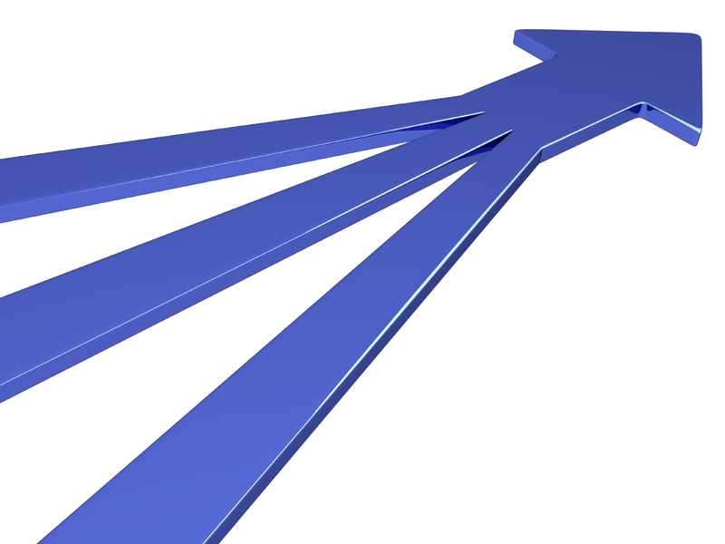 Trois traits qui se rejoignent pour forment une flèche.