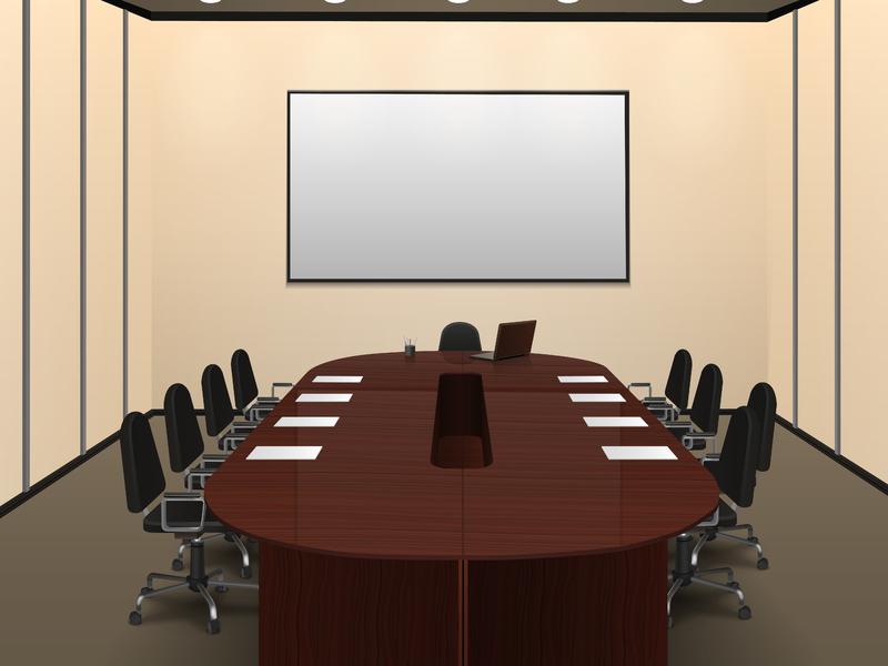 Une salle de réunion.