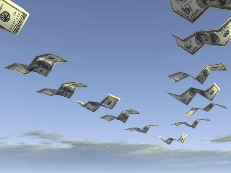 Des billets qui volent dans un ciel calme comme des oiseaux migrateurs.