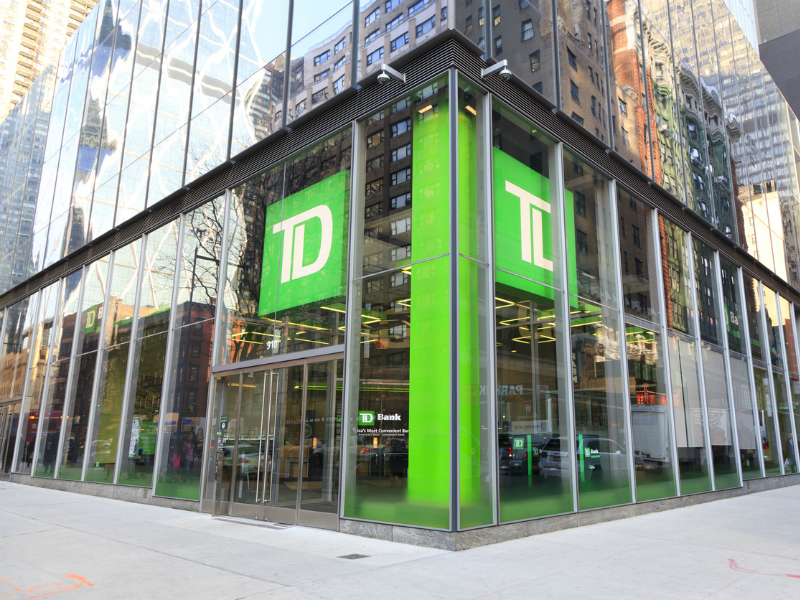 Une photo de la banque TD.