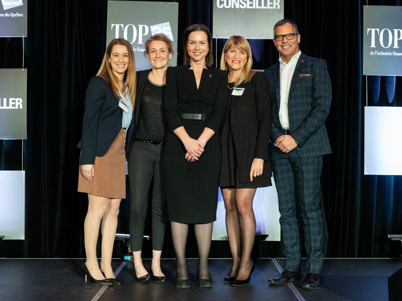 Les finalistes de la Catégorie Institutions financières à portée nationale du Top 25 2019.