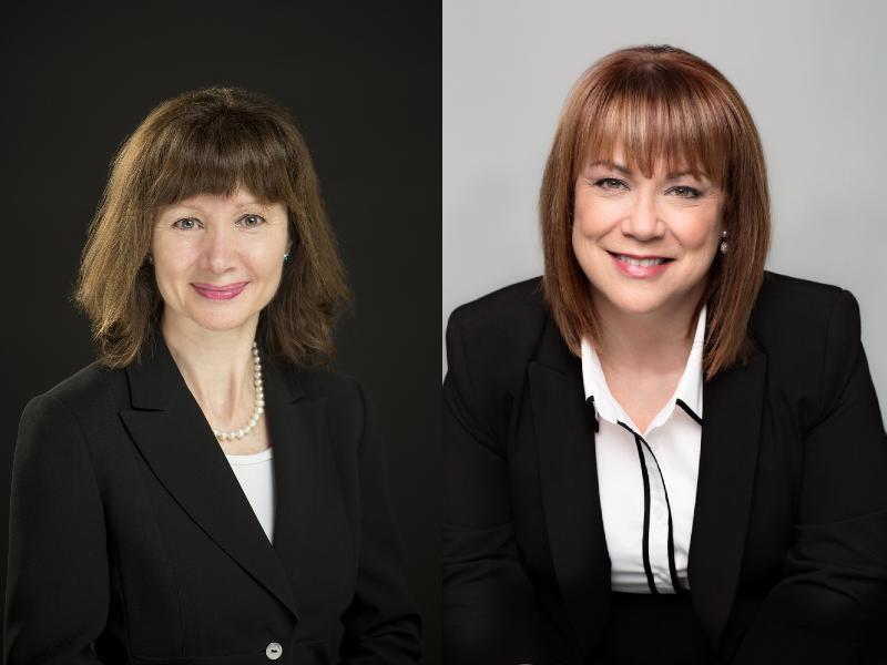 Deux photos portraits, une de Lyne Gagné et l'autre de Annick Laberge