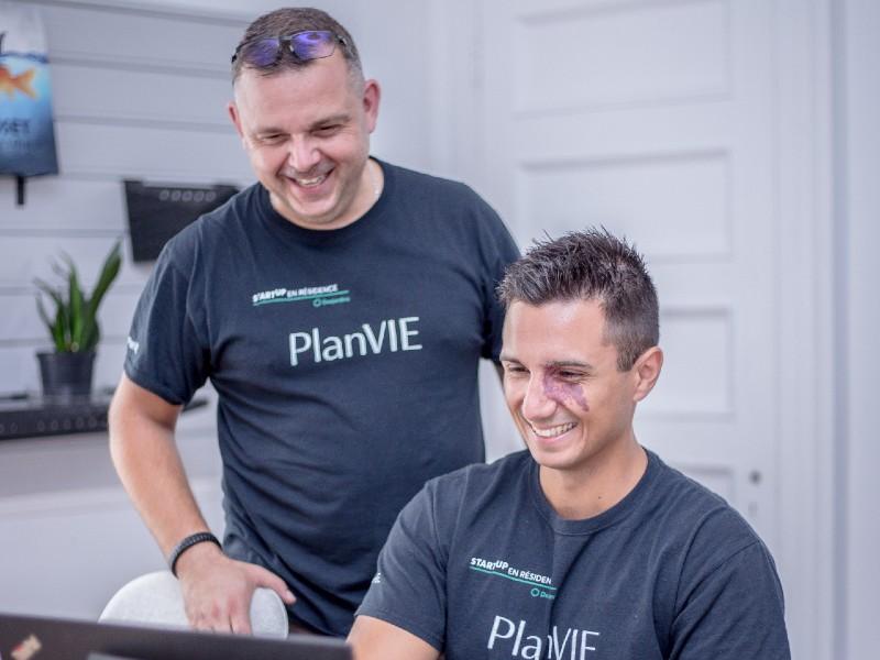 Une photo portrait des cofondateurs de PlanVIE.