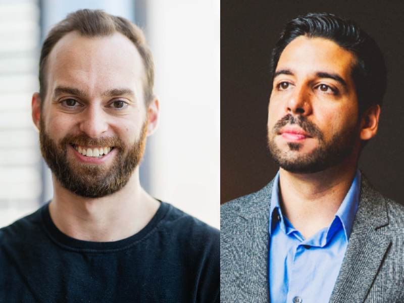 Les cofondateurs de Senso, Nick Seelert et Saroop Bharwani.