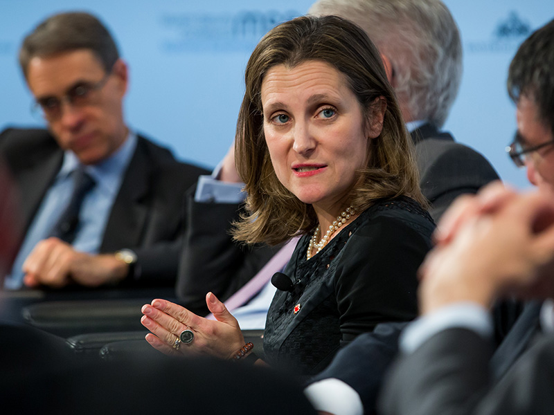 Une photo de Chrystia Freeland.