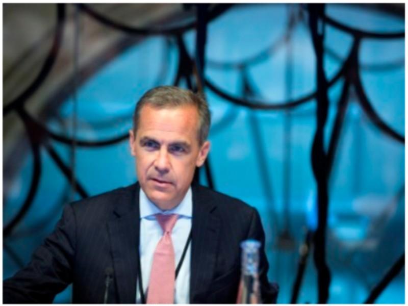 Une photo de Mark Carney à la Banque d'Angleterre