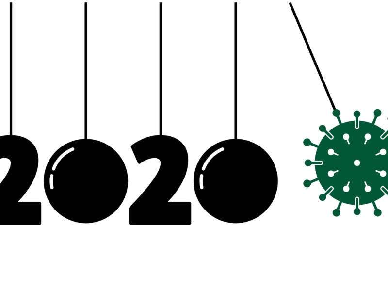 2020 accroché avec des fils, la covid vient pousser les chiffres.