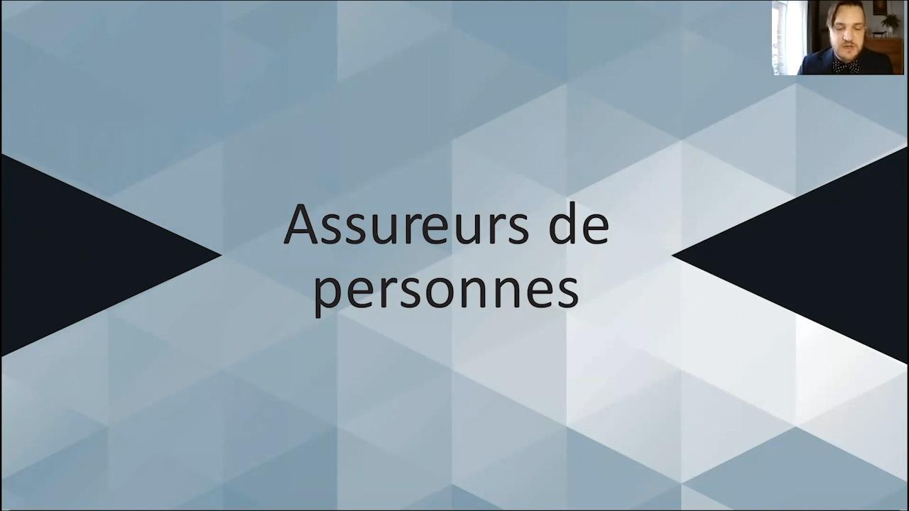 Lauréat: Assurance de personnes